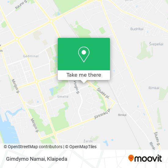 Gimdymo Namai map