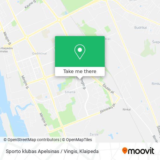 Sporto klubas Apelsinas / Vingis map