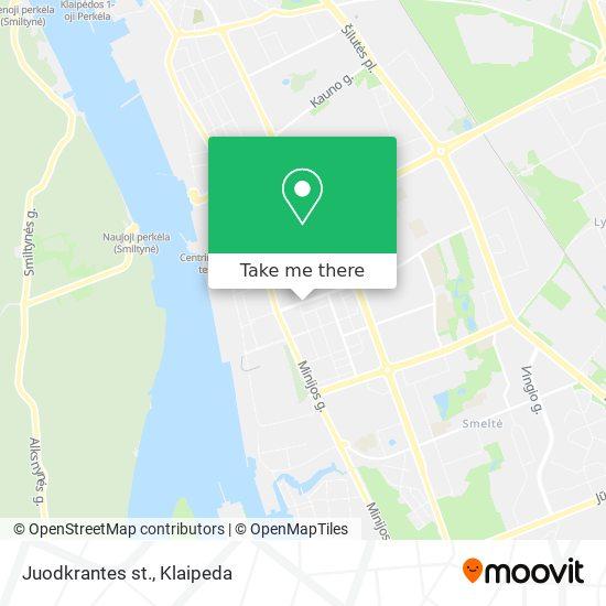 Juodkrantes st. map