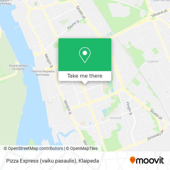 Pizza Express (vaiku pasaulis) map