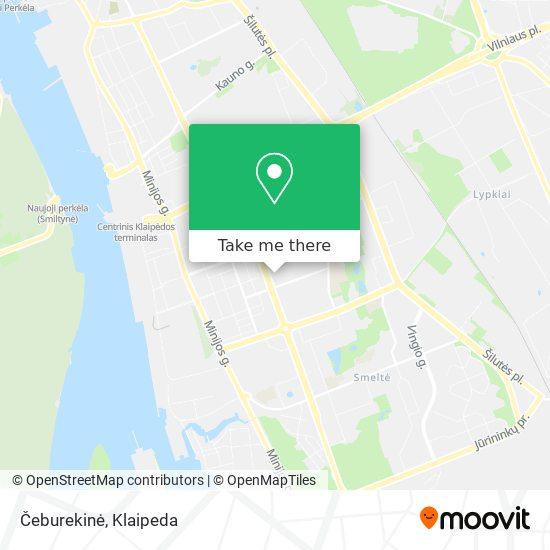 Čeburekinė map