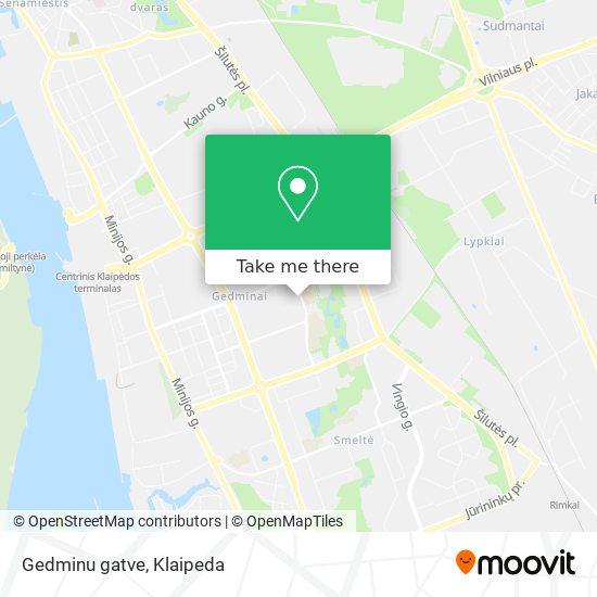 Gedminu gatve map