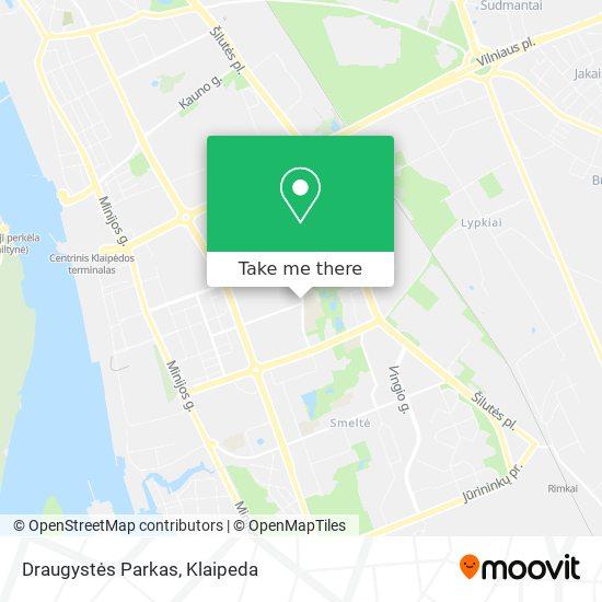 Draugystės Parkas map