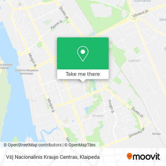 VšĮ Nacionalinis Kraujo Centras map