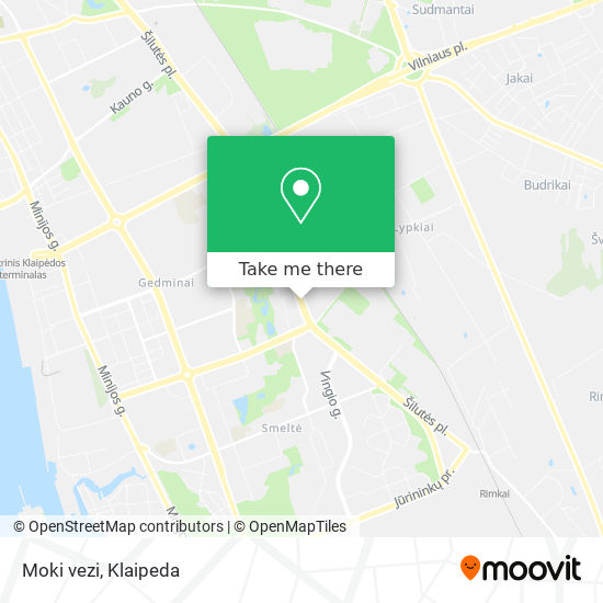 Moki vezi map