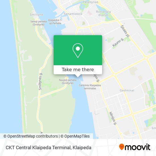 CKT Central Klaipeda Terminal map