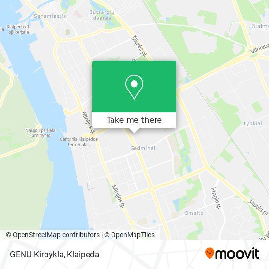 GENU Kirpykla map