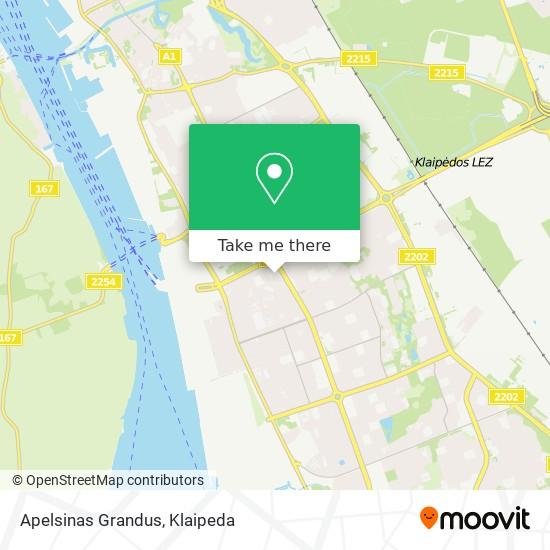 Apelsinas Grandus map
