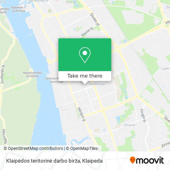 Klaipėdos teritorinė darbo birža map