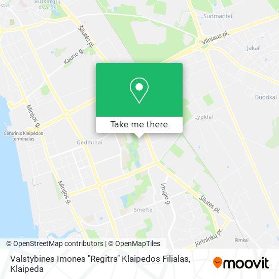 "Valstybines Imones ""Regitra"" Klaipedos Filialas map"