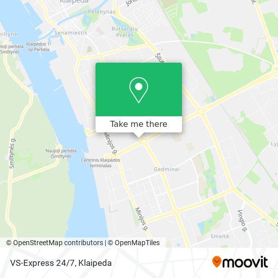 VS-Express 24/7 map
