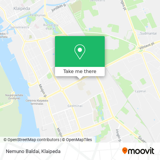 Nemuno Baldai map