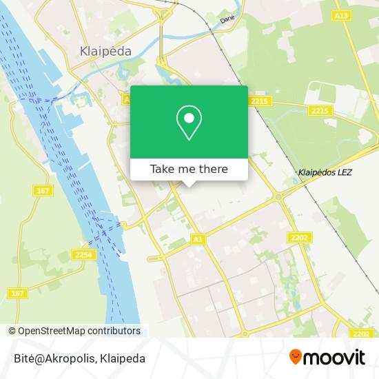 Bitė@Akropolis map
