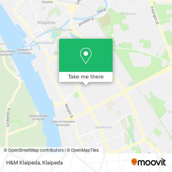 H&M Klaipeda map