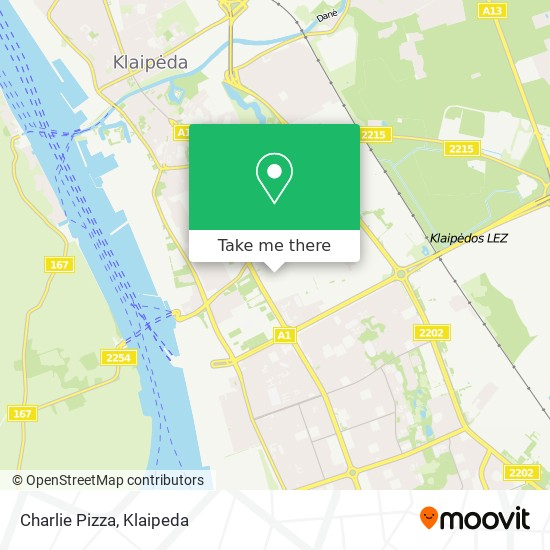 Charlie Pizza map