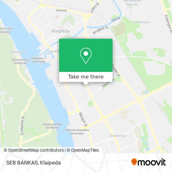 SEB BANKAS map