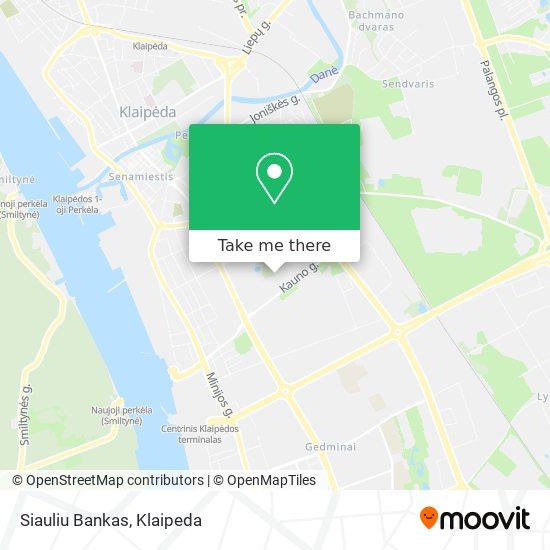 Siauliu Bankas map