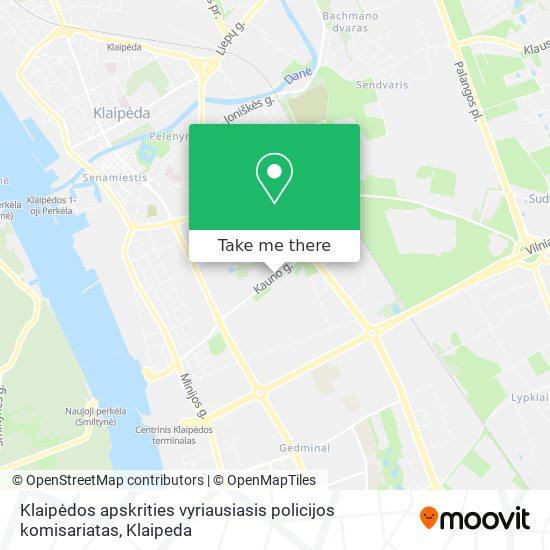 Klaipėdos apskrities vyriausiasis policijos komisariatas map