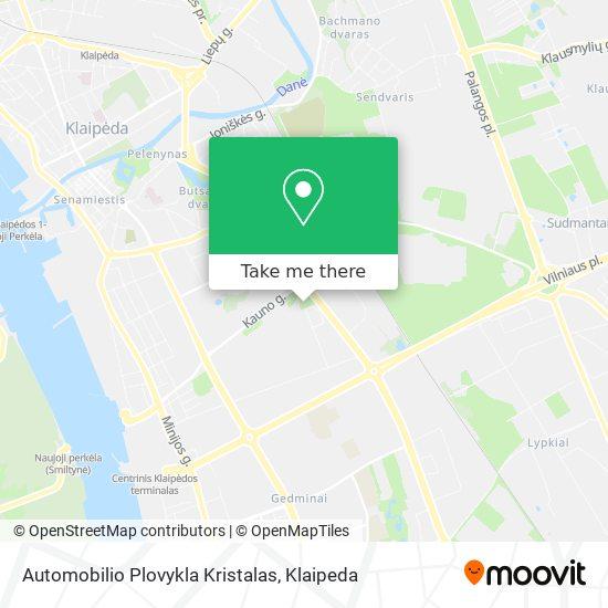 Automobilio Plovykla Kristalas map