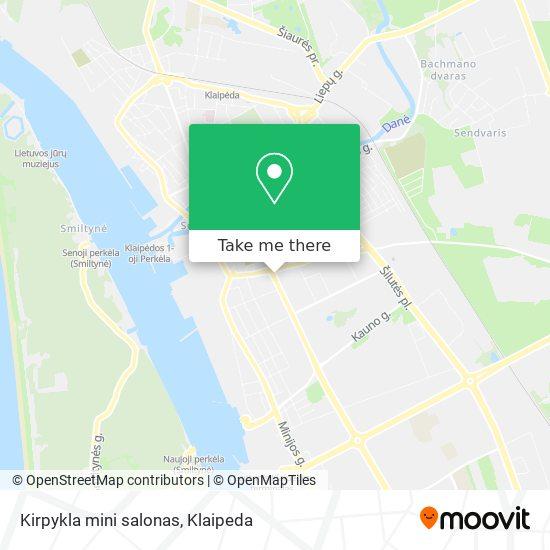 Kirpykla mini salonas map