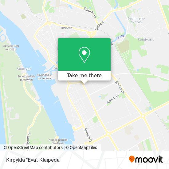 "Kirpykla ""Eva"" map"