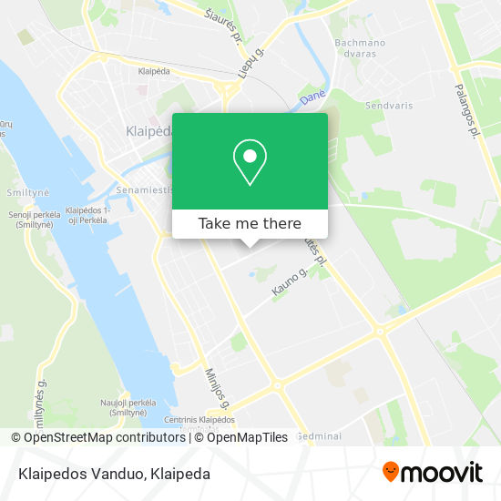 Klaipedos Vanduo map