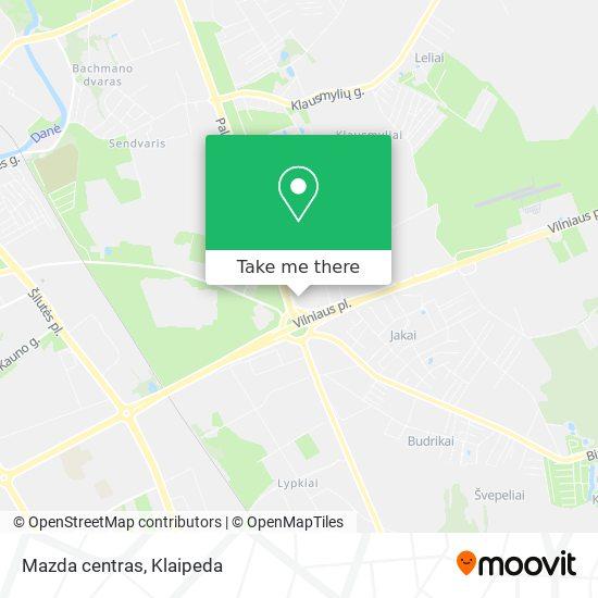 Mazda centras map