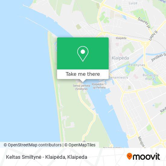Keltas Smiltynė - Klaipėda map