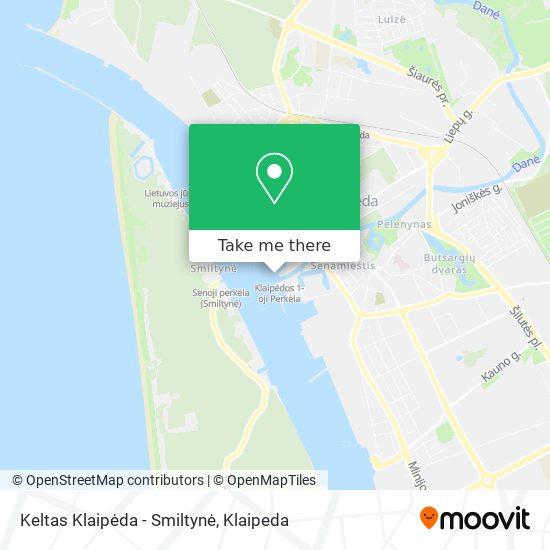 Keltas Klaipėda - Smiltynė map