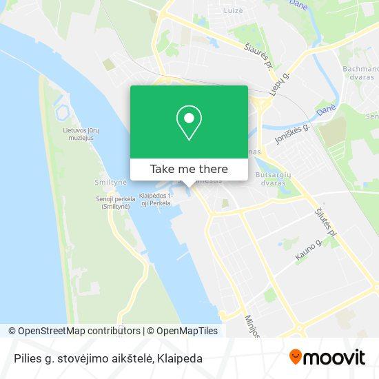Pilies g. stovėjimo aikštelė map