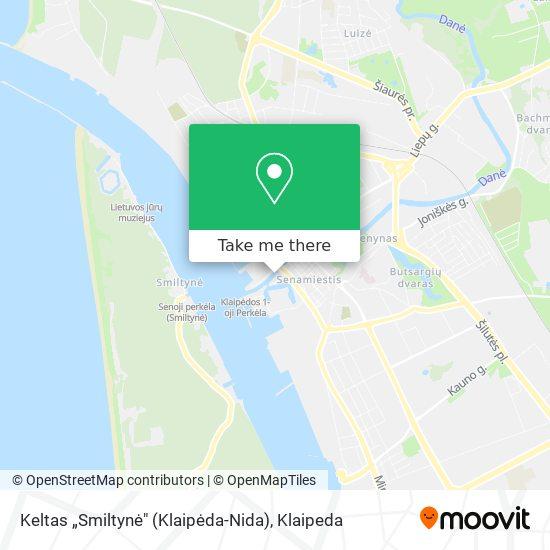 "Keltas ""Smiltynė"" (Klaipėda-Nida) map"