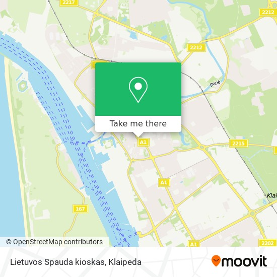 Lietuvos Spauda kioskas map