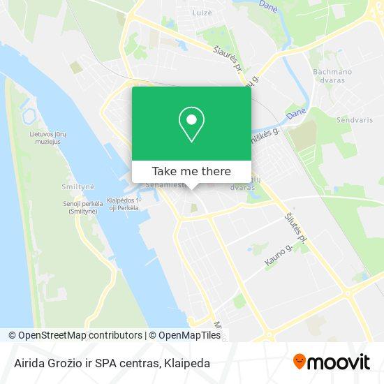 Airida Grožio ir SPA centras map