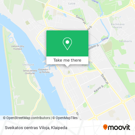 Sveikatos centras Viloja map