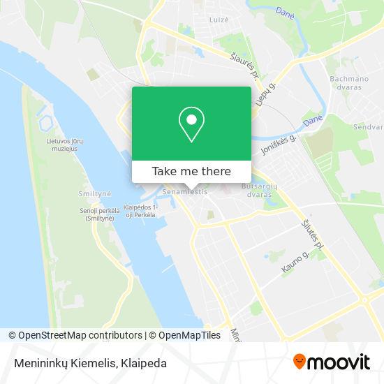 Menininkų Kiemelis map