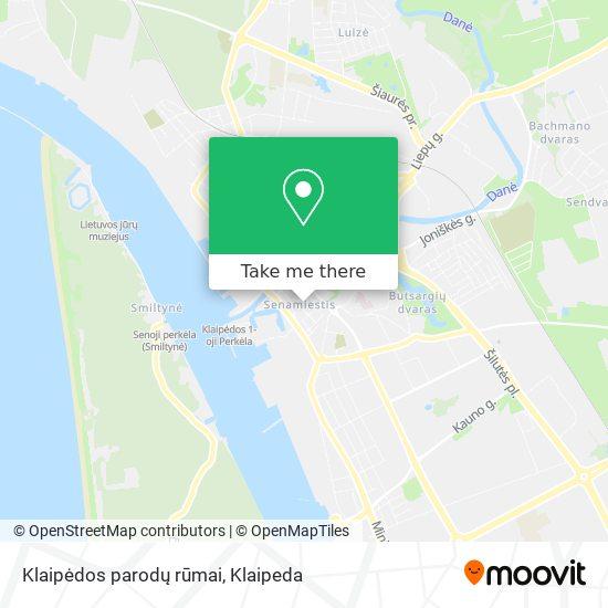 Klaipėdos parodų rūmai map