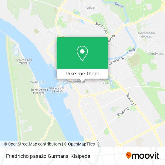 Friedricho pasažo Gurmans map