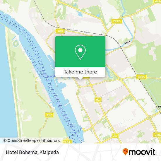 Hotel Bohema map