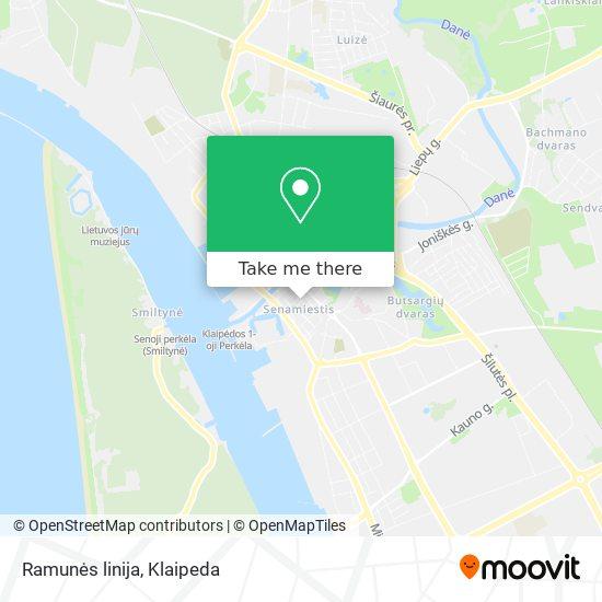 Ramunės linija map