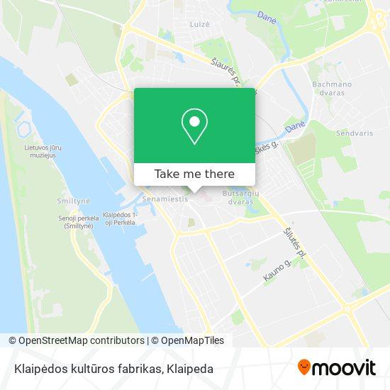 Klaipėdos kultūros fabrikas map