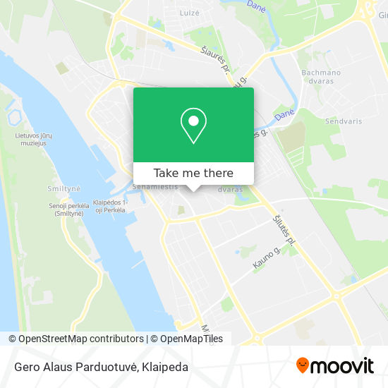 Gero Alaus Parduotuvė map