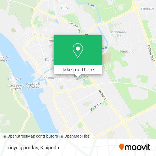 Trinyčių prūdas map