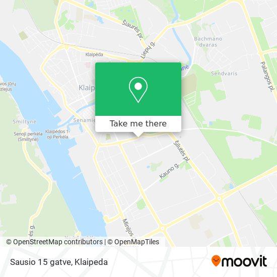 Sausio 15 gatve map