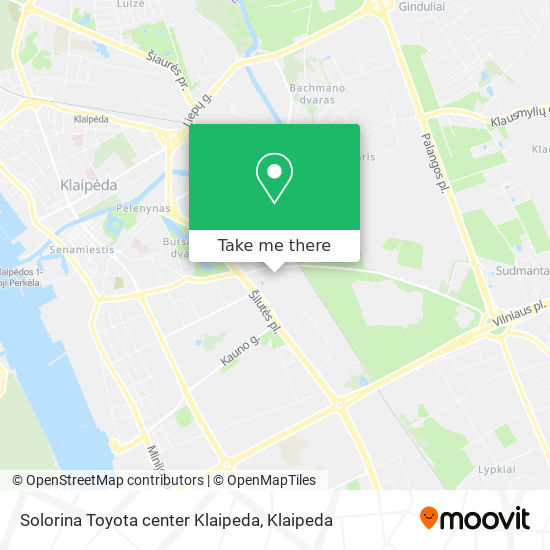 Solorina Toyota center Klaipeda map