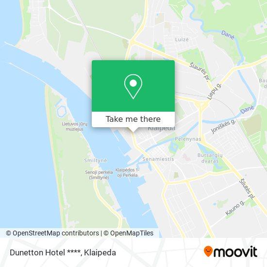 Dunetton Hotel **** map