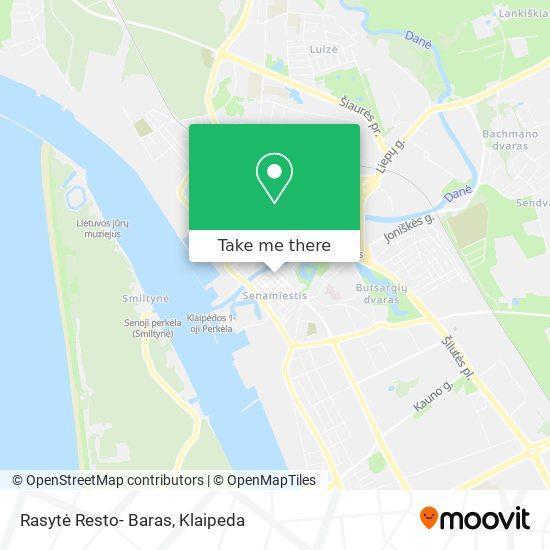 Rasytė Resto- Baras map