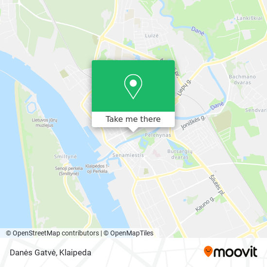 Danės Gatvė map