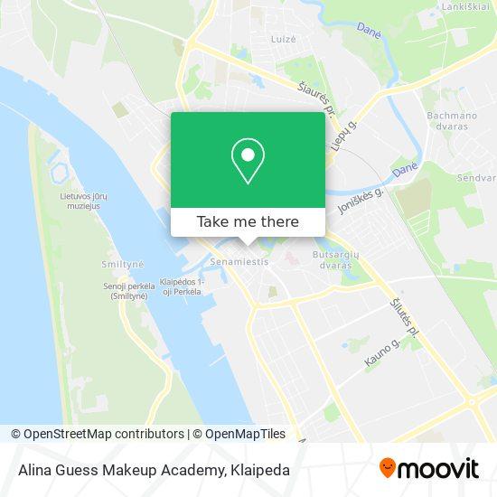 Alina Guess Makeup Academy map