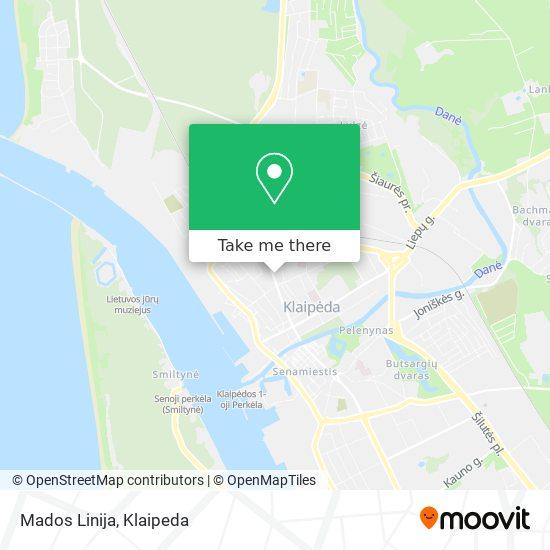 Mados Linija map