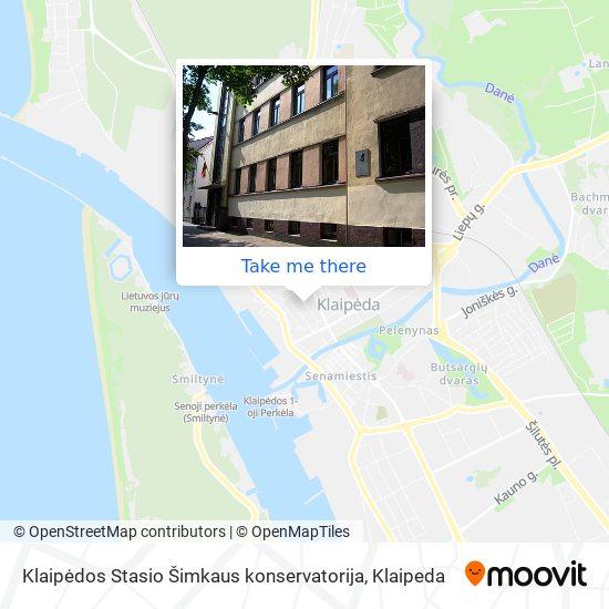 Klaipėdos Stasio Šimkaus konservatorija map